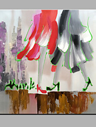 Single Modern Abstract Pure Hand Draw Frameless Decorative Painting The Dancing