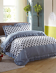 Marks The Fashion,High-end Full Cotton Reactive Printing Stripe Contemporary Bedding Set 4PC, FULL/Queen Size