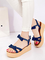 Women's Shoes Leatherette Platform Creepers Sandals Outdoor / Office & Career / Casual Blue / Royal Blue