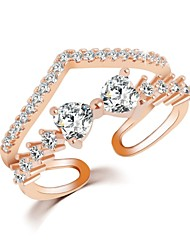 Hot Sale 2016 Fashion Crystal Jewelry Adjustable Ring New Gold Sliver Planted Bow Rings For Women