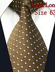 Men's Tie Dots  Caramel 100% Silk New Fashion Casual