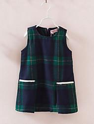 Vestido Chica de-Primavera / Otoño-Acrílico-Verde