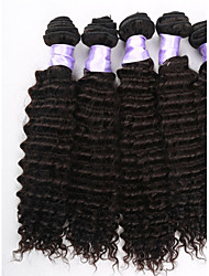 3pcs / lot capelli vergini brasiliani tesse brasiliani ricci offerte fascio di capelli vergini, 100% estensione dei capelli umani in