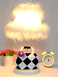Valentine'S Day Black And White, Plaid Package Of Contemporary And Contracted Creative Resin Desk Lamp Led Light