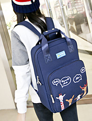 Women Polyester Bucket Backpack - Blue / Green / Black