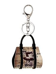 regalo portachiavi donne auto borsa gioielli di pittura scenario catena cartone animato portachiavi titolare 2016 chiave acrilico