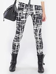 Women Print Legging , Polyester Thin