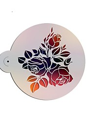 Large Rose Design Fondant Decorating Stencil,Cake Top Stencil,Wedding Decorating Stencil Wall Stencil,Valentines ST-3185