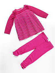 Girl's Clothing Set,Cotton All Seasons Red