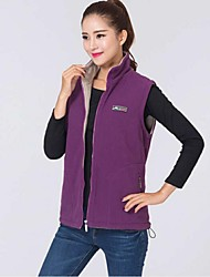 Women Outdoor Sports Collar Fleece Vest Thickening Winter Autumn waistcoat Keep Warm