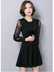 Women's Korean Style Round Collar  Maternity Dress (More Colors)
