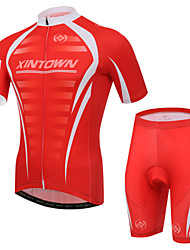 XINTOWN Cycling Jersey with Shorts Unisex Short Sleeve Bike Sleeves Jersey Shorts Clothing SuitsQuick Dry Ultraviolet Resistant
