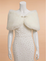 Wedding  Wraps / Fur Coats / Shawls / Fur Accessories Shrugs Sleeveless Faux Fur / Feather/Fur Ivory Wedding / Party/Evening
