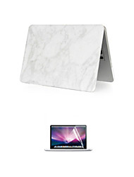 "Case for Macbook Air 13.3"" Marble Plastic Material A Smart PVC MacBook Case with Screen Flim"