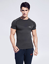 Running Tops Men's Short Sleeve Breathable / Quick Dry / Sweat-wicking Camping & Hiking / Boxing / Equestrian / Fitness / Running Sports