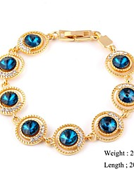 European Style Zircon Chain Bracelet Gold Plated