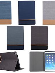 support de ceinture de grain de toile sur les cartes étui ouvert pour ipad air / ipad 5