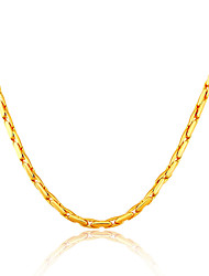 Men's Chain Necklaces Gold Plated Fashion Gold Silver/Gray Jewelry Wedding Party Daily Casual 1pc