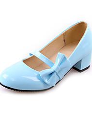 Women's Shoes Heel Heels / Round Toe Heels Office & Career / Dress / Casual Black / Blue / Pink / White9367-1
