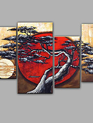 Pine Tree And Moon Landscape Oil Painting