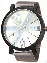 JUBAOLI® Men's Fashion Dial Black Steel Band Quartz Wristwatch Cool Watch Unique Watch