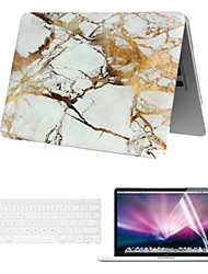 "Case for Macbook Air 13.3"" Marble Plastic Material A Smart PVC MacBook Case with Keyboard Cover and Screen Flim"
