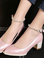 Women's Shoes Glitter / Leatherette Chunky Heel Heels Heels Office & Career / Party & Evening / Dress Black / Pink