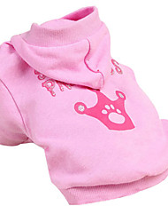 Dog Hoodie Pink Winter Tiaras & Crowns Cosplay