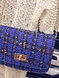 Women PU Messenger Shoulder Bag - Blue / Red / Black