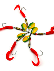 """5pcs pcs Iscas Buzzbait & Spinnerbait Vermelho 7.3g g/1/4 Onça,105mm mm/4-1/4"""" polegada,Plástico Pesca de Isco"""