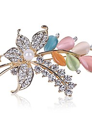 Colorful Rhinestone Flower Brooch Pin Fine Jewelry Best Bridal Broaches Korean Jewellery Excelente Christmas Broches