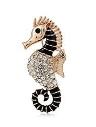 Sea Horse Brooches Wedding Broach Hijab Pins Broches Free Vintage Jewelry Brooch Bouquet Relogio Feminino Esmalte