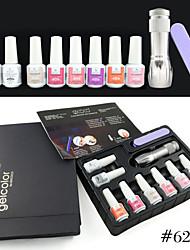 621K CANNI Factory Guangzhou Factories GDCOCO Brand Nails Art Gel 10 Series(A to J) Polish Gel Kit