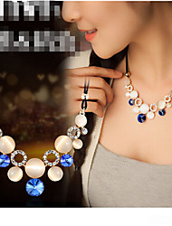 MISSING U Party / Casual Alloy / Gemstone & Crystal / Cubic Zirconia Statement Necklace