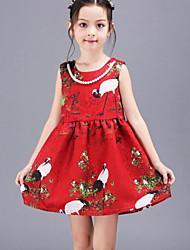 Vestido Chica de - Todas las Temporadas - Rayón - Rojo