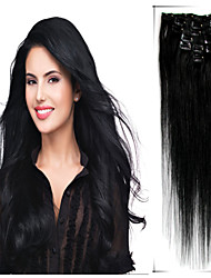 human virgin clip in hair extensions