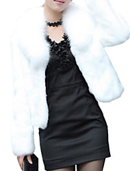 Women's Fur Coat,Solid Long Sleeve Winter Faux Fur