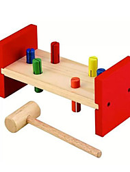 Kids Multicolor MULA Wood Hammering Block DIY Toy Hammer Tool Puzzle Playset
