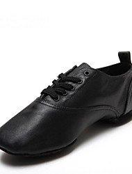 Non Customizable Men's Dance Shoes Leather Leather Modern Oxfords Low Heel Practice / Beginner / Professional / Performance Black / Other