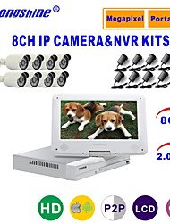 Strongshine® IP Camera with 1080P/Infrared/Waterproof and 8CH NVR with 10.1Inch LCD Combo Kits