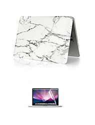 "Case for Macbook Pro 12"" Marble Plastic Material Luxury PVC MacBook Case with Screen Flim"