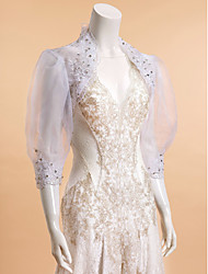 Wedding / Party/Evening / Casual Lace / Organza Shrugs 3/4-Length Sleeve Wedding  Wraps