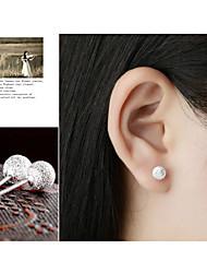 Earring Stud Earrings Jewelry Women Pearl / Alloy 2pcs White