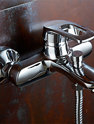 Wall Mounted Single Handle Bathroom Faucet of Solid Brass Body Chrome Finish Surface Bathtub Mixer Tap K3053