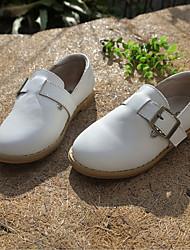 Per bambino-Sneakers-Tempo libero / Casual-Moccasino-Piatto-Di pelle-Nero / Rosso / Bianco