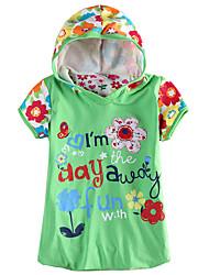 Girl's Summer Short Sleeve New 2016 Floral Dress Children Dresses(Random Printed)