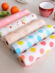 Drawer Paper Plastic Printed Wallpaper Colorful Waterproof Mat Wardrobe Kitchen Cabinet Pad(Random Color)