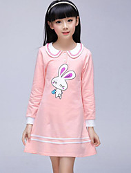 Girl's Pink / Yellow Dress Cotton Summer