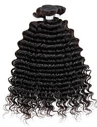 4bundles color profundo brasileño virginal del pelo rizado 8-26inch 1b # teje sin procesar virginal del pelo humano sin procesar