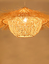 50*30CM Modern Rural Cany Art Woven Rattan Restaurant Single Head Droplight Lamp LED